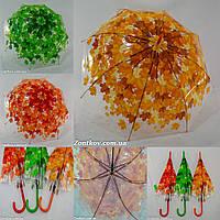 """Прозрачный зонтик трость с листьями оптом от фирмы """"SWIFT""""., фото 1"""