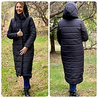 Куртка зимняя одеяло матовая чёрная / чёрного цвета M032