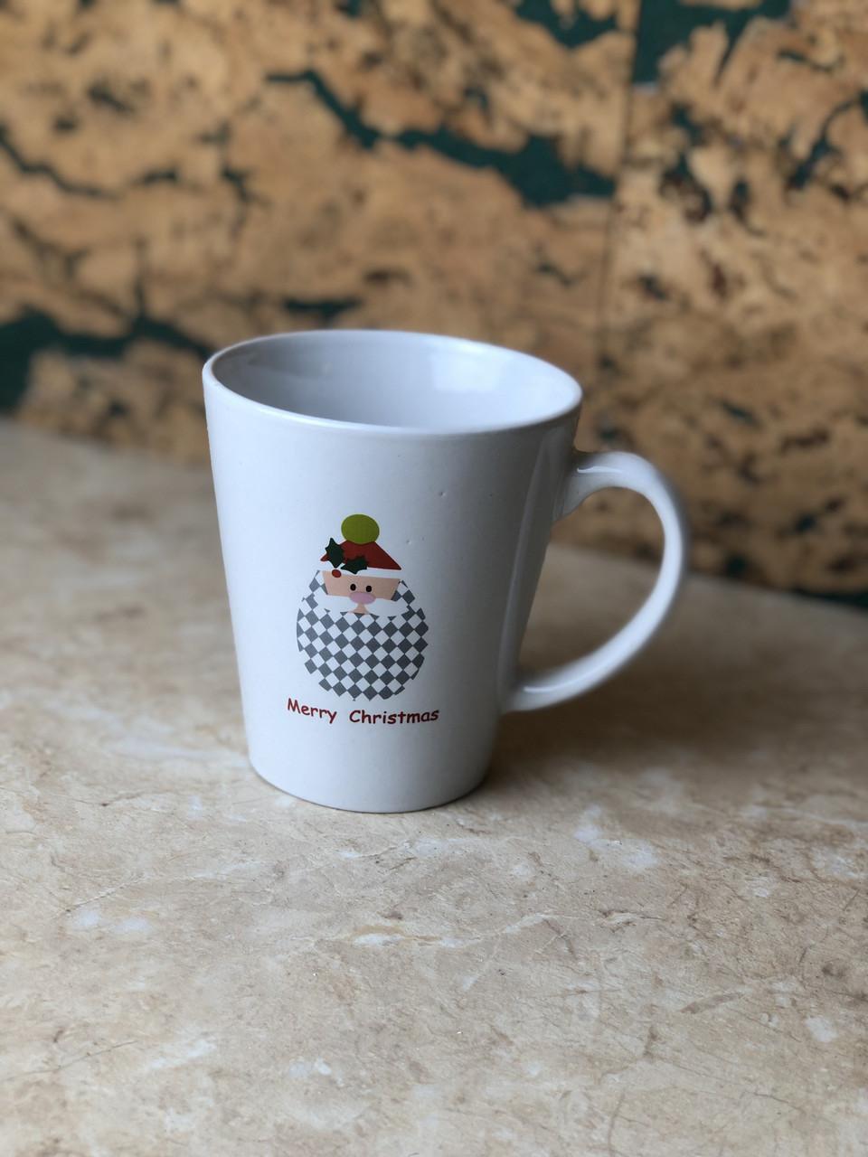 Чашка Новий рік біла керамічна