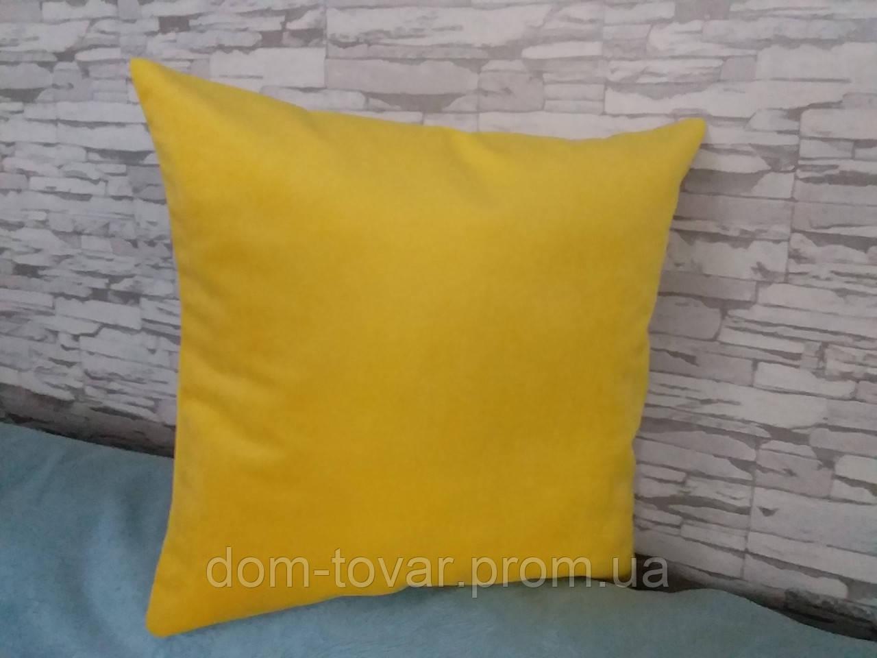 Наволочка декоративная 45х45 ярко-желтая