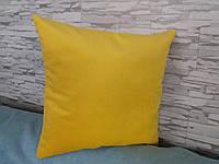 Наволочка декоративная 45х45 ярко-желтая, фото 1