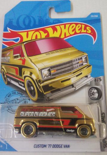 Машинка Hot Wheels 2019 Custom '77 Dodge Van