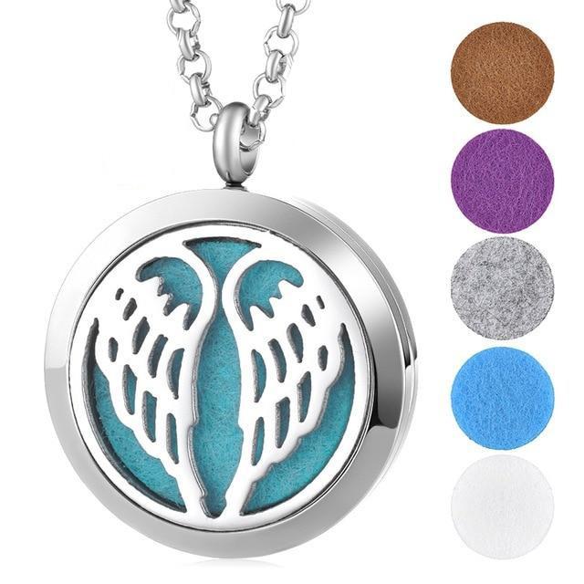 Аромамедальон крылья ангела для аромамасел и любимых духов