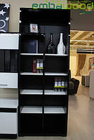 Книжный шкаф Embawood Гармония Чёрный, Белый