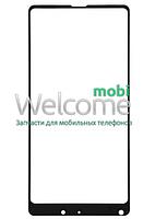 Защитное стекло Xiaomi Mi Mix 2/2S, клеится на всю поверхность, (0.3 мм, 2.5D, с олеофобным покрытием) black