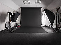 Черный Виниловый фото фон PhotoProoF 200х300 см, Настоящий Виниловый фотофон