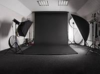 Черный Виниловый фото фон PhotoProoF 200х400 см, Настоящий Виниловый фотофон
