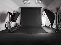 Черный Виниловый фото фон PhotoProoF 2,5х4 метра, Настоящий Виниловый фотофон для фотостудии