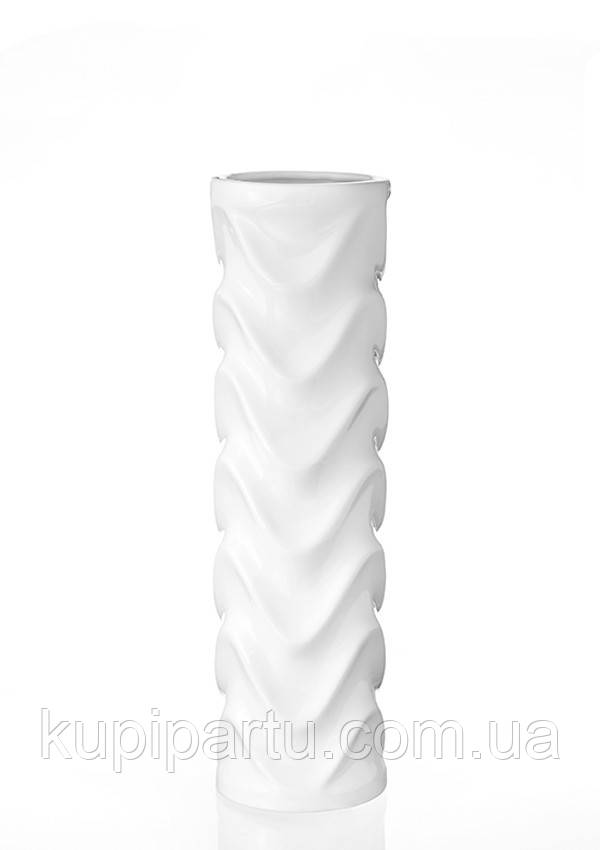 Ваза Циліндр кераміка біла 11*11*35 см 0005 біла