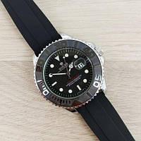 Часы наручные (в стиле) Rolex Oyster Perpetual Date черные-серые