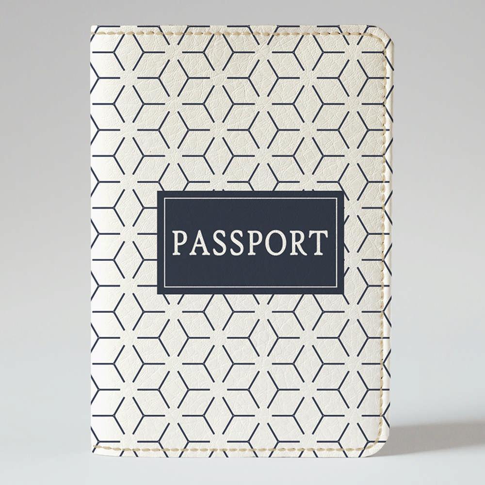 """Обложка на паспорт, """"Мужская абстракция"""", экокожа"""