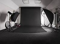 Черный Виниловый фото фон PhotoProoF 2,5х7 метров, Настоящий Виниловый фотофон для фотостудии