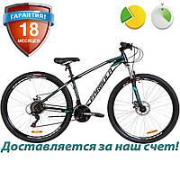 """Горный MTB велосипед найнер 29"""" Formula DRAGONFLY DD 2019 (черно-бирюзовый)"""