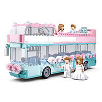 """Конструктор SLUBAN M38-B0769 """"Girls Dreams"""": весілля, автобус, посуд, фігурки, 379 дет."""