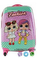 """Детский пластиковый чемодан на колесах  """"Лол"""" ручная кладь, дитячі чемодани, дитячі валізи, фото 1"""