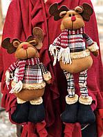 Новогоднее украшение  фигурка под ёлку в виде оленя с выдвижными ногами, фото 1