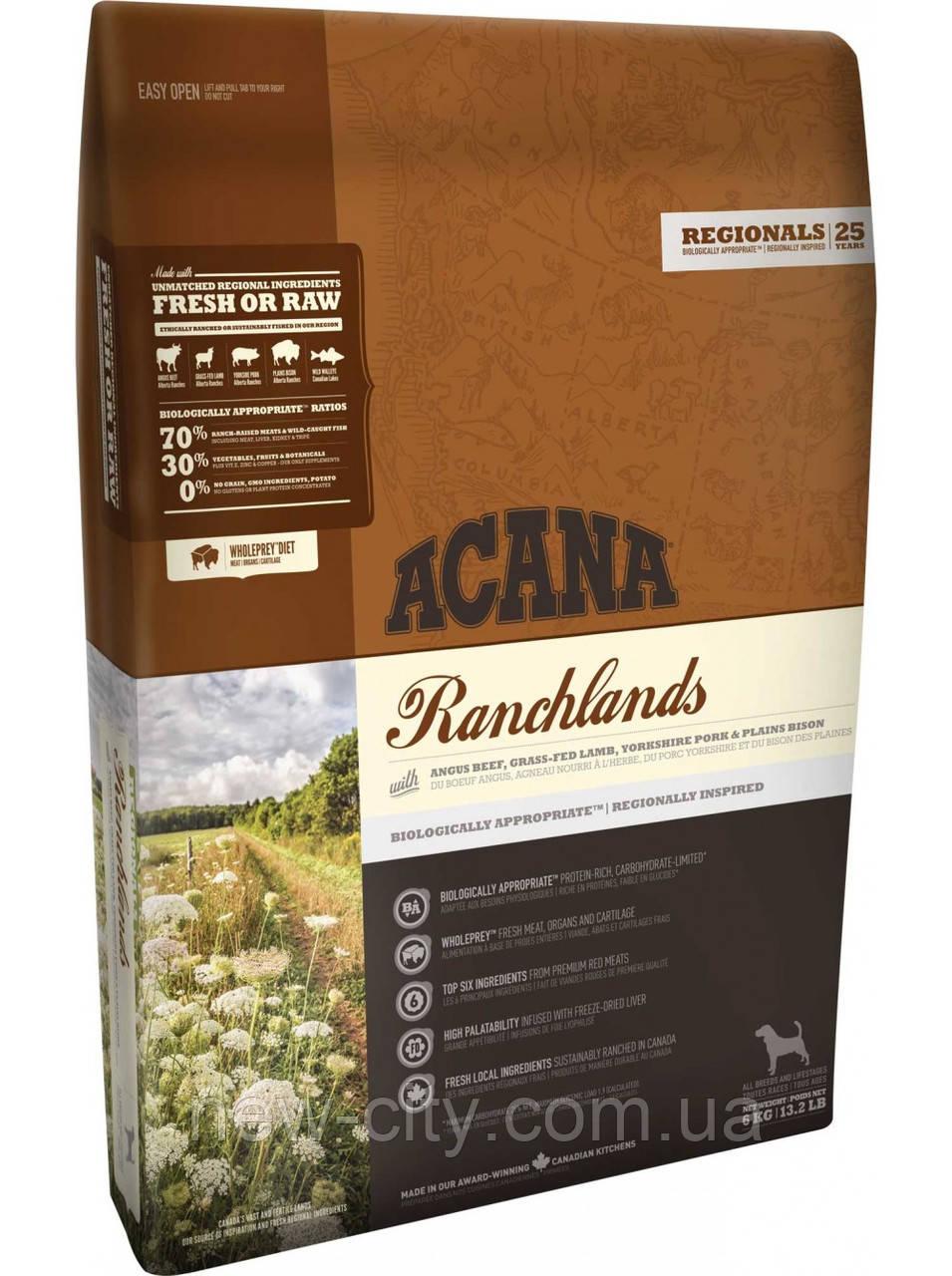 Acana Ranchlands Dog - корм Акана для собак всех пород и возрастов 11,4кг