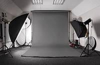 Серый Виниловый фото фон PhotoProoF 2х3 метра, Настоящий Виниловый фотофон