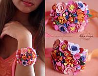 """""""Ассорти"""" браслет на руку с цветами из полимерной глины, фото 1"""
