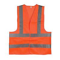 Жилет сигнальный оранжевый XL (60*70см), 120 гр/м2 INTERTOOL SP-2028