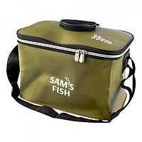 Сумка рыбацкая (чехол, ведро мягкое, ящик для рыбалки) для хранения рыбы и прикормки EVA 35 см (SF23841)