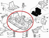 Защита поддона двигателя Doblo (пластмаса) 2005-2009 51755554