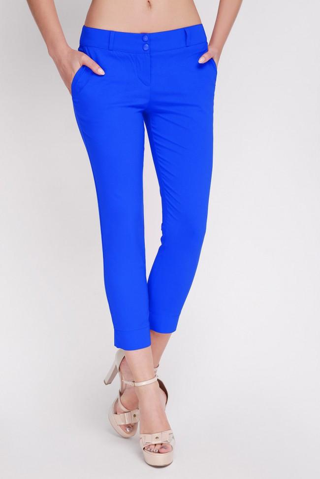 Укороченые женские брюки из натурального материала с карманами BENGAL-BATAL BRK-014E батал