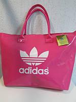Сумка женская Adidas 1202 лаковая розовая код 519А