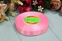 Атласная лента 12мм*25ярдов №8037 - Бледно-розовая