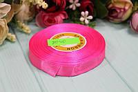 Атласная лента 12мм*25ярдов №8040 - Ярко-розовая