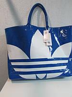 Сумка женская Adidas 41904 лаковая голубая код 520А