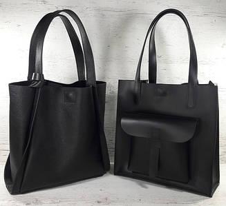 Сумки-шопперы и сумки-пакеты из натуральной кожи на подкладке или с мешком на молнии