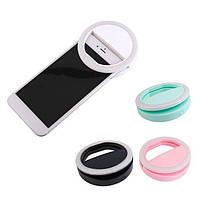 Светодиодное селфи кольцо с USB-зарядкой Selfie Ring Light (Белый, розовый, синий)
