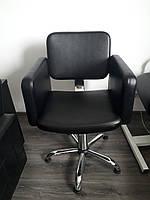 """Кресло парикмахерское """"OLIMP"""" VM835 на гидравлике хром"""