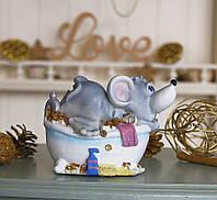 Копилка мышка в ванной 13*11*10 см 026 A 026A