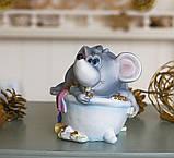 Копилка мышка в ванной 13*11*10 см Гранд Презент 026 A 026A, фото 2