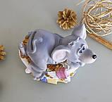 Копилка мышка в ванной 13*11*10 см Гранд Презент 026 A 026A, фото 5