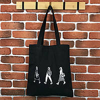Тканевая сумка Шоппер City-A Три девушки Черная