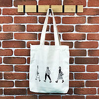 Тканевая сумка Шоппер City-A Три девушки Белая