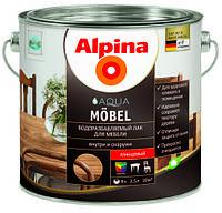 Акриловый мебельный лак глянцевый (для внутренних работ) Alpina Aqua Möbel 2,5л