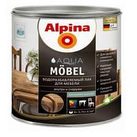 Акриловый мебельный лак шелковисто-матовый (для внутренних работ) Alpina Aqua Möbel 2,5л
