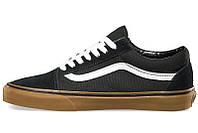 Мужские кеды Vans Old Skool Gum черные с белым р.39 Акция -46%!