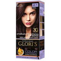 Краска для волос Gloris 2.1 Черный шоколад, 1 окрашивание