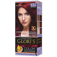 Краска для волос Gloris 4.3 Дикая вишня, 2 окрашивания