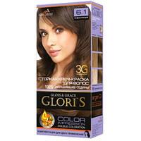 Краска для волос Gloris 6.1 Темно-русый, 1 окрашивание