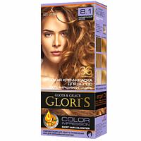 Краска для волос Gloris 8.1 Карамельный блонд, 1 окрашивание