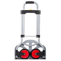 Тележка ручная складная до 60 кг, 385*375*960, колеса 130 мм, (стальная) INTERTOOL LT-9006