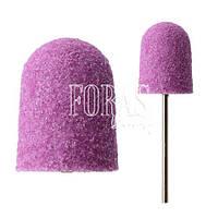 Колпачек для педикюрной фрезы, фиолетовый, 16х25 мм (180 grit)
