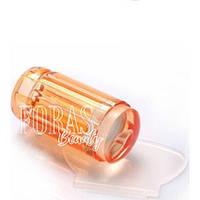 Прозрачный силиконовый штамп для стемпинга со скрапером (оранжевый)