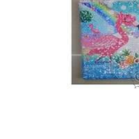 Блокнот А5/80  Фламинго  пайетки линия  3892